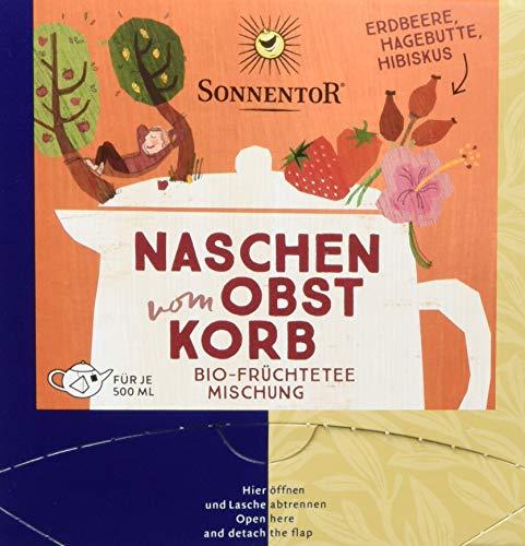Sonnentor Naschen vom Obstkorb Bio Tee, Kannenbeutel, 2er Pack (2 x 36 g)