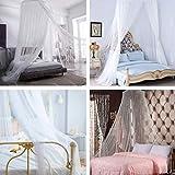 FOCHEA Moskitonetz Bett, Kuppel Groß Mückennetz für Einzelbett, Doppelbett und Babybett, Prinzessin Moskitonetz Mückennetz Insektennetz Betthimmel für Reise und Zuhause - 6