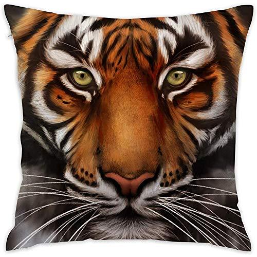 July Decoratieve kussensloop tijgerkussenslopen kussenslopen voor bank slaapkamer auto stoel
