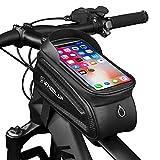 *GARDOM Borses de Bicicleta,Borses Manillar Impermeable Borsa Tàctil de Tub Paquet de Ciclisme per a Telèfon amb Pantalla Tàctil per a iPhone X / 8/7 Plus / 7 / *6s / 6 Plus / *5s (Lletra Blanco)