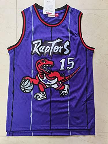 XFKL Toronto Raptors Camiseta # 15 Vince Carter Camiseta De Baloncesto Chaleco Transpirable Retro Sin Mangas Ropa Deportiva De Entrenamiento,D,XL