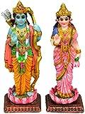 "Krishna Culture Sita Rama Standing India Statues 4.75"" Hindu Idols Golu Doll"