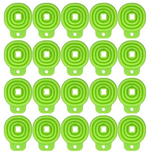 Kitchen Tools-20PCS Embudo plegable Embudo de silicona plegable flexible para transferencia de líquido de botella de agua