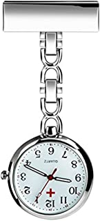 Powshop Nurse Lapel Pin Watch Hanging Medical Doctor Pocket Watch Pin-on Lapel Watch