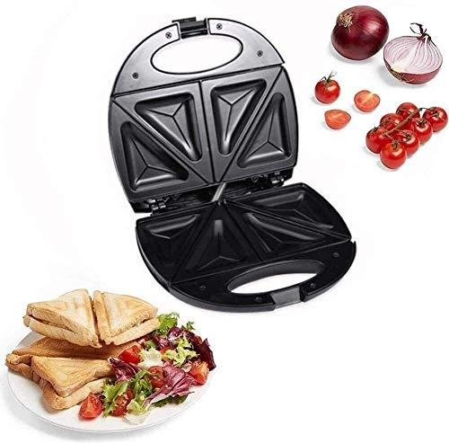 XiaoDong1. Sandwich Toaster Frühstück Sandwich Maker 750W Haushalts Mini Steak Maker/Hamburger Spiegelei Sandwich Maker/Double Pot Antihaft Grill Toaster / 3 in 1 Waffele Maker