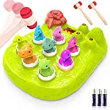 Growsland Whack A Dinosaur Game Toy for Kids, Interactive Pounding Toy Early Developmental Language Learning Birthday Xmas Gifts for Toddlers Boys and Girls of 2, 3, 4, 5, 6, 7, 8 Years Old (Green)