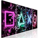 murando - Bilder für Gamers Spielkonsole 160x60 cm Vlies Leinwandbild 4 Teilig Kunstdruck modern...