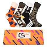 CREA SOCKS Lustige Herren Socken, Geschenk Socken, Camouflage Socken, Sport Socken, Punkt Socken, Herren Socken EU 41-46 (Camuflaja)