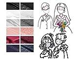 Mund- & Nasenmaske – elegant Spitze/Satin/Baumwolle Bestickt- 2-lagig Waschbar Handgenäht – Hochzeit JGA Taufe Trauerfeier Einschulung - Alltagsmaske; Behelfs-mundschutz; Gesichts-maske