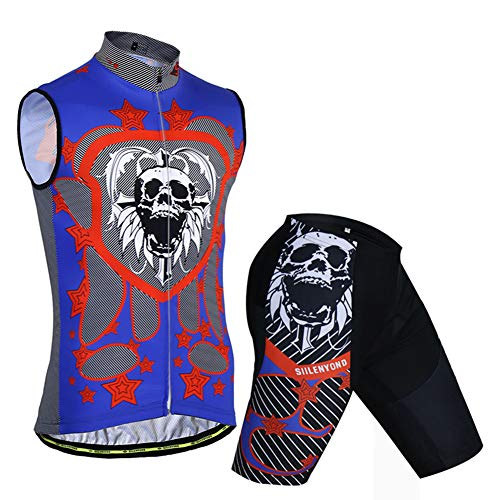 YLL Maillot Ciclismo Hombre Ropa Bici Camiseta Sin Mangas Transpirable Y Absorbe...