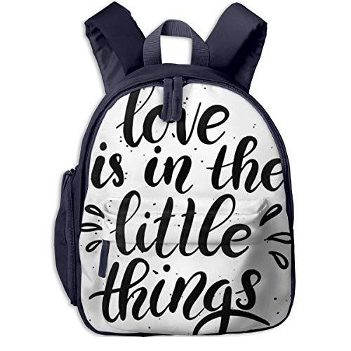 Kinderrucksack Kleinkind Jungen Mädchen Kindergartentasche Zitat Liebe ist klein Backpack Schultasche Rucksack