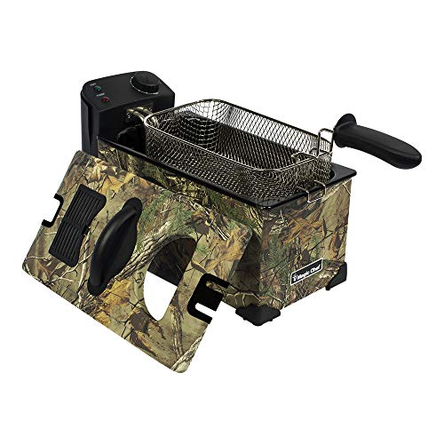 Magic Chef MCL3LDFRT 3 Liter Electric Temperature Control Deep Fat Fryer with Basket, Realtree Xtra Camo