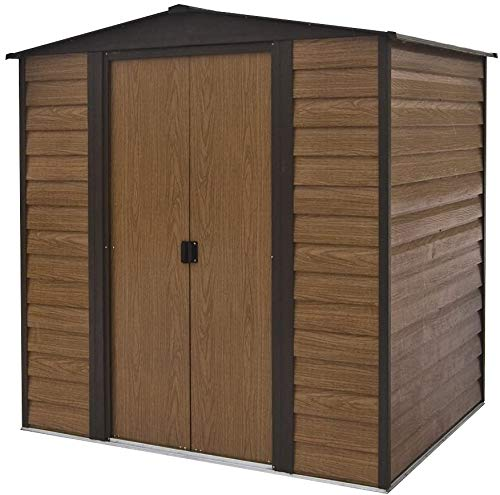 Fire Prevention and Anti-Corrosion Double Positioning Push-Pull Door Garden Metal shed,10 x 12 feet