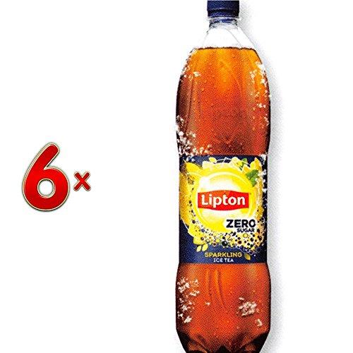 Lipton Ice Tea Zero PET 6 x 1,5 l Flasche (Eistee mit Kohlensäure)