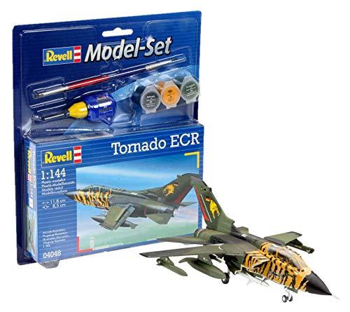 Revell Modellbausatz Flugzeug 1:144 - Tornado ECR im Maßstab 1:144, Level 3, originalgetreue Nachbildung mit vielen Details, , Model Set mit Basiszubehör, 64048