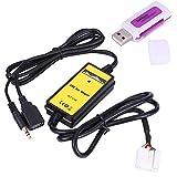 Akozon Adaptador de Entrada Auxiliar Adaptador de Entrada Auxiliar USB para automóvil Reproductor de MP3 Cable Radio Interfaz de Audio para Odyss