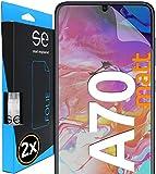 [2 Stück] Entspiegelte 3D Schutzfolien kompatibel mit Samsung Galaxy A70, hüllenfre&liche Matte Bildschirmschutz-Folie, Schutz vor Dreck & Kratzern, kein Schutzglas - smart Engineered