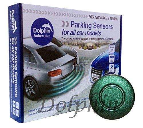 Kit de sensores de estacionamiento traseros Dolphin DPS400, 4 sensores de inversión ultrasónicos, sistema de alerta de audio (pitido) - Racing Green