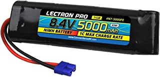 Lectron Pro NiMH 8.4V 7-Cell 5000mAh Flat Pack with EC3 Connector for 1/10 Scale Cars, Trucks, and Buggies