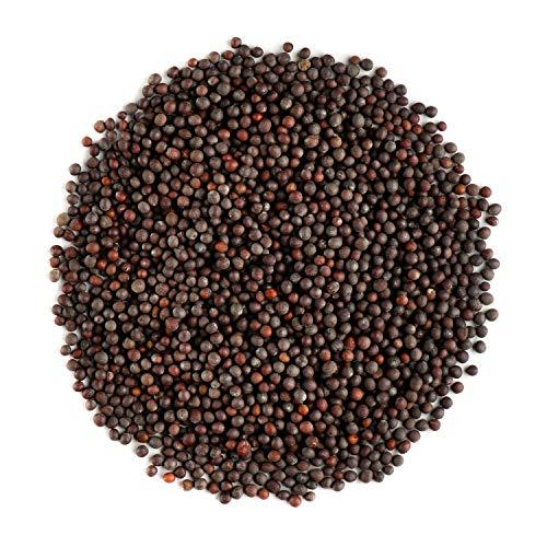 Schwarze Senfsamen Bio Gesamte Qualität - Senfkorn Samen - Senfkoerner - Senfsaat Schwarz - Senfsamen Braune 200g