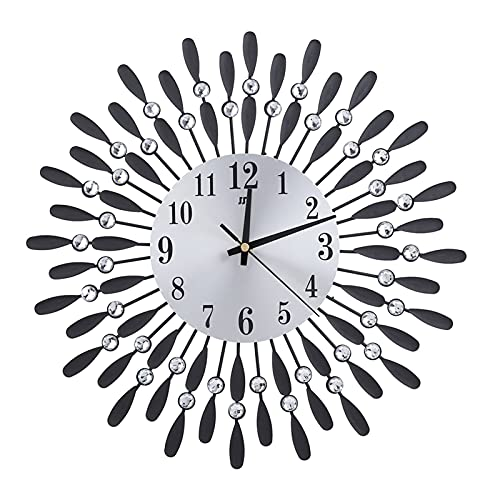 YIFengFurun Wall Colok, moderno estilo minimalista, decoración de la habitación del hogar, oficina, reloj de pared para sala de estar, dormitorio, cocina, decoración del hogar (negro)