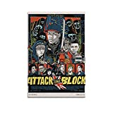 HANDI Attack The Block Poster Art Canvas Poster Wall Art Decor Print Picture Paintings for Living Room Bedroom Decoration 24×36inchs(60×90cm)