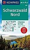KOMPASS Wanderkarte Schwarzwald Nord: 2 Wanderkarten 1:50000 im Set inklusive Karte zur offline Verwendung in der KOMPASS-App. Fahrradfahren. Reiten. Langlaufen. (KOMPASS-Wanderkarten, Band 886)