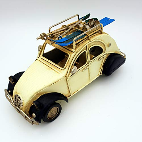DynaSun Art - Modelo de coche de época vintage, de metal, de colección de estilo retro antiguo, escala 1:23, 16 cm