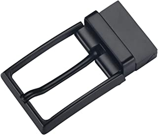 D DOLITY Retro Reversible Belt Buckle Single Prong Rectangle Buckle Replacement Belt Accessory
