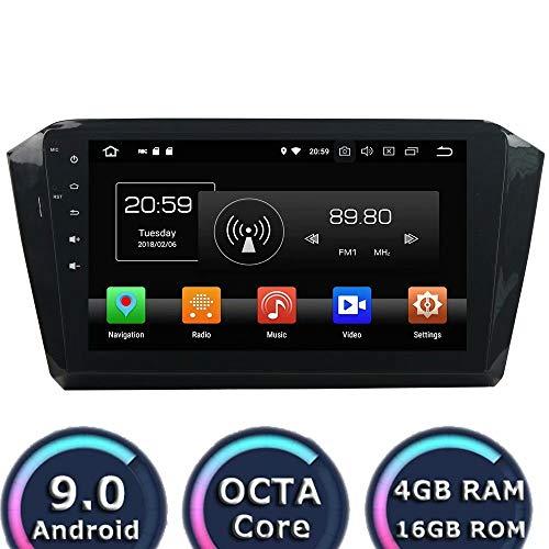 ROADYAKO 10,1 Pouces Android 8.1 Navigation Automatique ForVW Magotan 2015 2016 2017 Autoradio Stéréo DVD avec GPS 3G WiFi Lien Miroir RDS FM AM Bluetooth AUX Multimédia Audio Vidéo