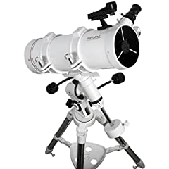 Superior optics - get a closer look at our planets, Stars, and other deep-sky objects with our stargazer telescope that features a 114mm Aperture and impressive light-gathering capabilities. Durable mount - designed to smoothly Track celestial object...