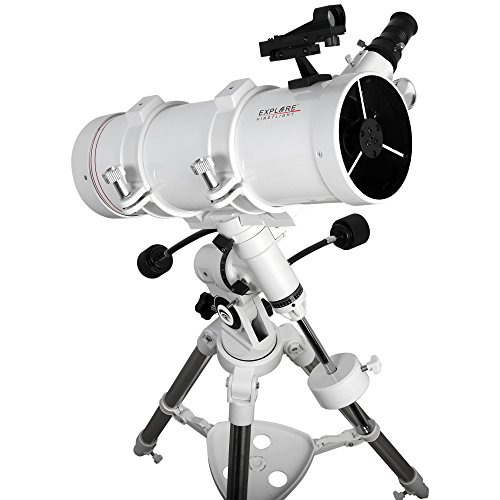 Explore Scientific FirstLight - Telescopio Newtoniano de 114 mm con Montura EQ3 (Blanco) - Telescopio montado para Adultos Stargazing - Telescopio de observación y telescopio de astronomía