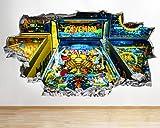 BB323 Flipper Arcade Retro Arcade zerschlagene adhesivo de pared 3D Art Pegatinas Vinilo Habitación