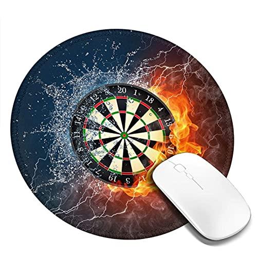Dartscheibe Target Ice Fire Mauspad Runde Gaming Mousepad Personalisierte Kunstdruck Mauspad für Computer Laptop & PC für Schreibtisch Office