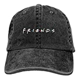 Hoswee Unisexo Gorras de béisbol/Sombrero, Friends TV Show Adult Hats Fashion Plain Cool Adjustable Denim Jeans Baseball Cap Cowboy