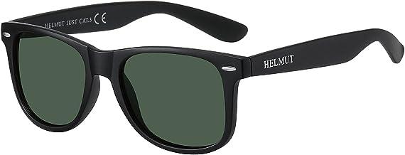H HELMUT JUST Wayfarer zonnebril voor dames en heren, gepolariseerd, klassiek, anti-reflectie, vierkant, montuur van TR90,...