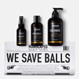 MANSCAPED Crop Essentials, Male Care Hygiene bundle, Includes Invigorating Body Wash, Moisturizing Ball Deodorant, High performance body Toner plus FREE Disposable shaving mats