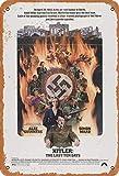 Hitler: The Last Ten Days Blechschild Metall Plakat