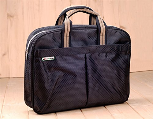 Business Travel Touchscreen Tablet Tote Bag, File Document Portable Portfolio Briefcase, Carrying Case Ipad Sleeve Bag for 14' Laptop, Macbook,With Side Pockets,Multi Compartment Top-Handle Handbag