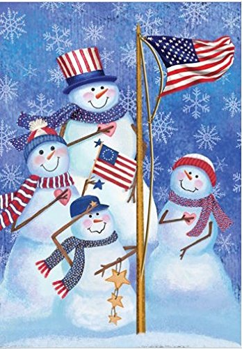 Dtzzou Snowman Christmas Garden Flag 12' x 18' Outdoor & Indoor Decorative Double Sided Flag for Christmas & Winter Holiday Decoration