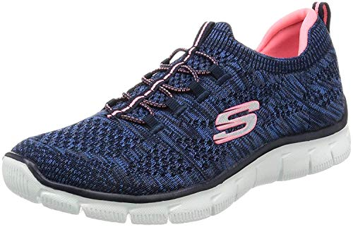 Skechers Empire-Sharp Thinking, Women Sneakers, Blue (Navy/Pink), 37 EU (4 UK)