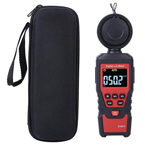 Medidor de luz, medidor de iluminancia LCD digital portátil ST6813, instrumento de fotómetro de fotómetro de mano profesional, para plantas de cultivo de fotografía, rango de hasta 100000