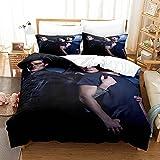 Stuyon Juego de funda de edredón, funda de edredón Teen Wolf de 220 x 240 cm con 2 fundas de almohada, material de microfibra, juego de cama de 3 piezas