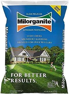 EasyGo Product Milorganite 32 lbs. Slow-Release Nitrogen Fertilizer Good for Promoting Healthy Growth of lawns Trees, shru...