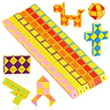 O-Kinee 12 Pack 24 Blocchi Magic Snake Cube, Mini Speed Cubes, Snake Twist Puzzle Toys for Kids Party Bag Fillers, Bomboniere, Colore Casuale (12pcs-b)