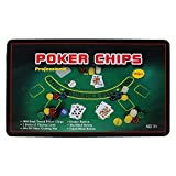 Jonquin Casino Poker Set with 300 Poker Chips, Playing Cards, Gaming Mat in