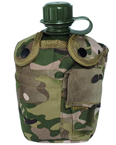 Botella Deportiva De Agua Taza Cantina Militar Al Aire Libre Del Ejército Acampar Bolsa – jungle, 1L