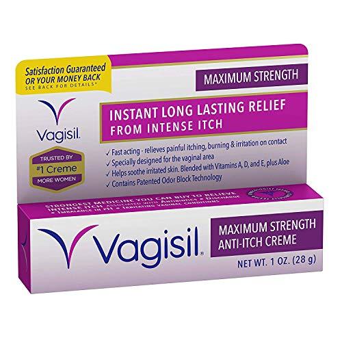 Vagisil Maximum Strength Anti-Itch Creme 1 oz Pack of 3)