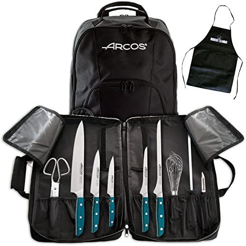 Set di utensili da cucina + coltelli Brooklyn + zaino porta spazzolini + grembiule nero Bricolemar in regalo (zaino + utensili + coltelli Brooklyn)