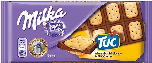 Milka Alpenmilch Schokolade & TUC Cracker 87g, 16er Pack (16 x 87 g)